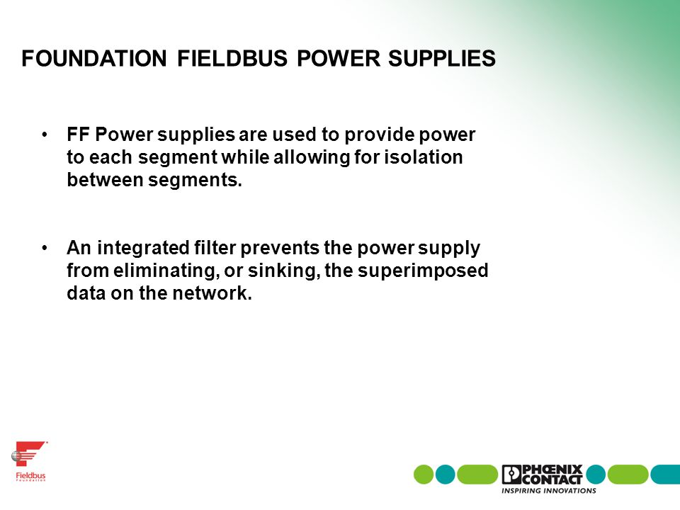 FOUNDATION FIELDBUS POWER SUPPLIES