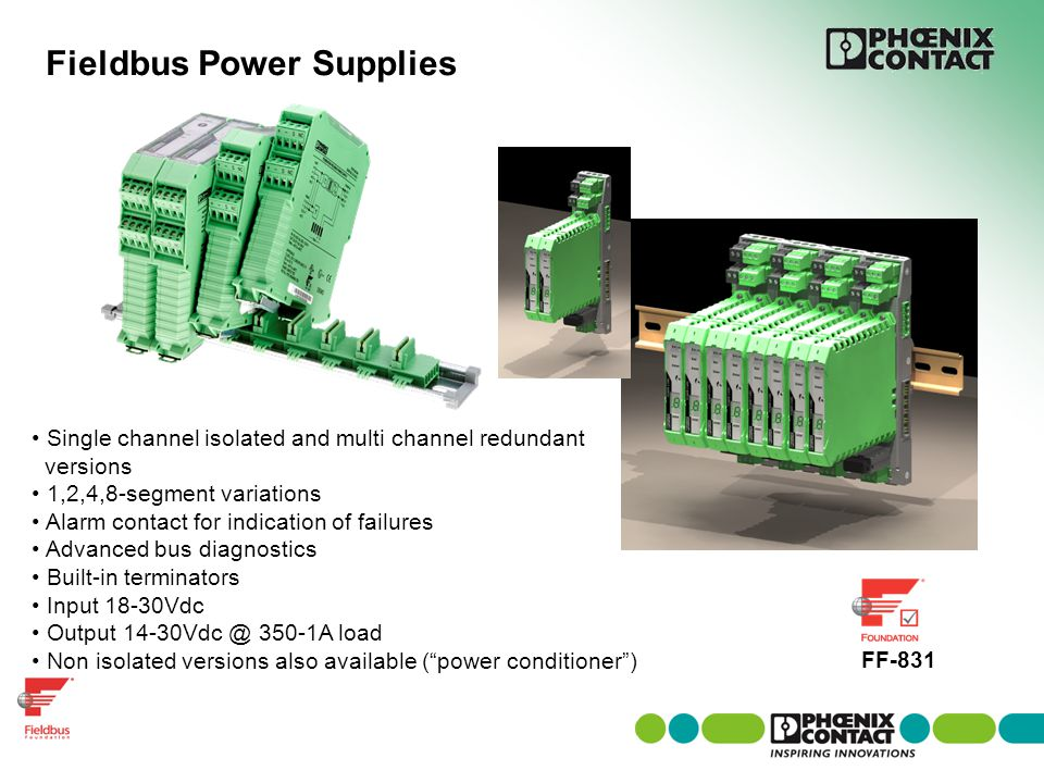 Fieldbus Power Supplies