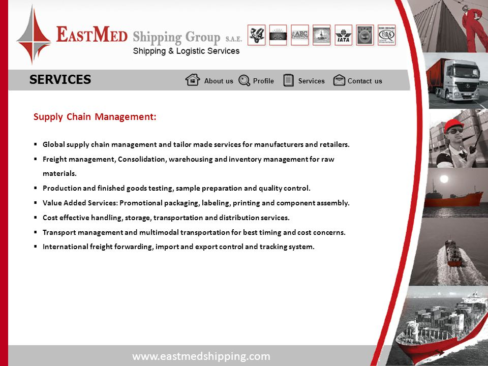 SERVICES Supply Chain Management: