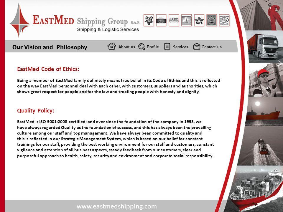 EastMed Code of Ethics: