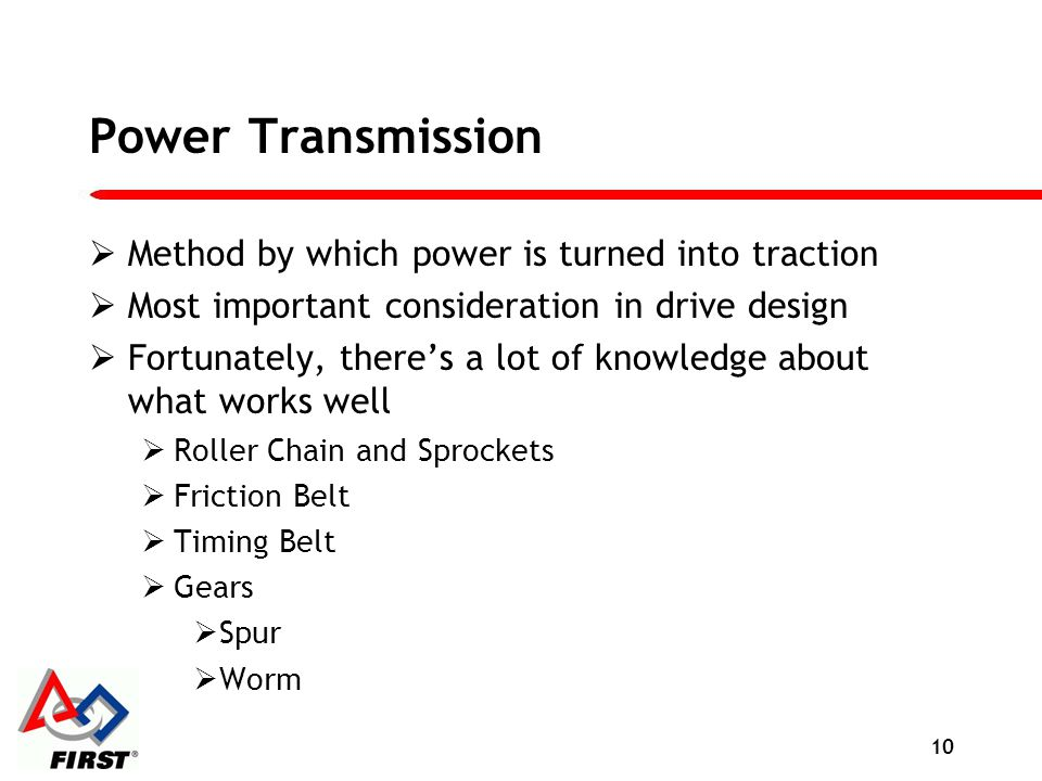 Power Transmission Method by which power is turned into traction