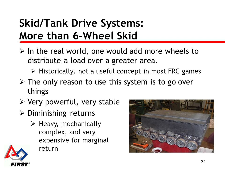 Skid/Tank Drive Systems: More than 6-Wheel Skid
