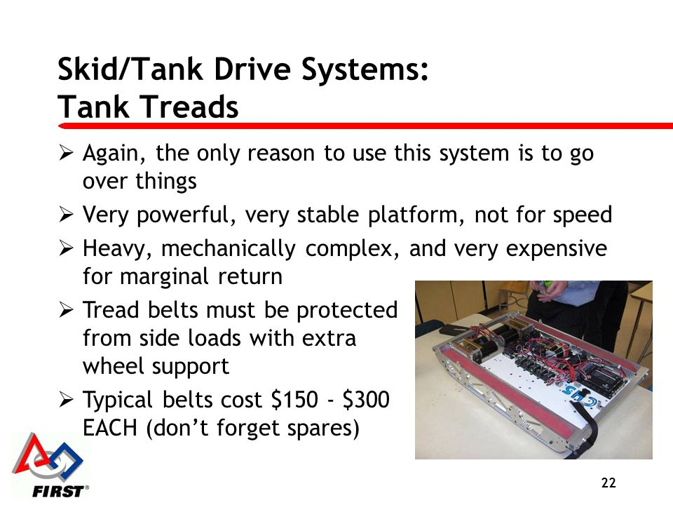 Skid/Tank Drive Systems: Tank Treads