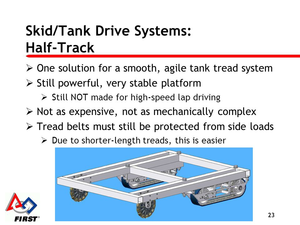Skid/Tank Drive Systems: Half-Track