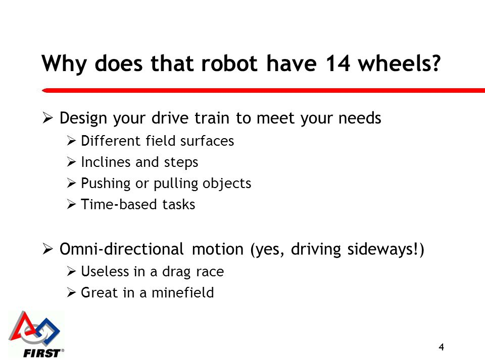 Why does that robot have 14 wheels
