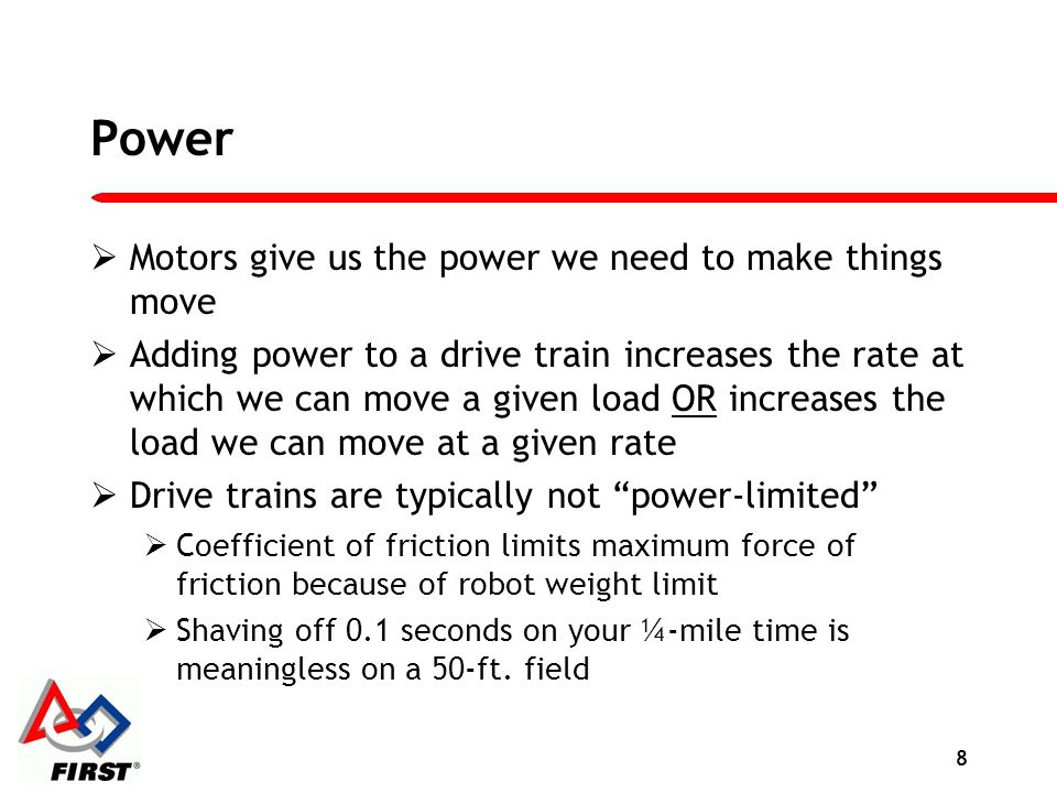 Power Motors give us the power we need to make things move