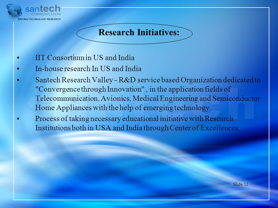 Research Initiatives: