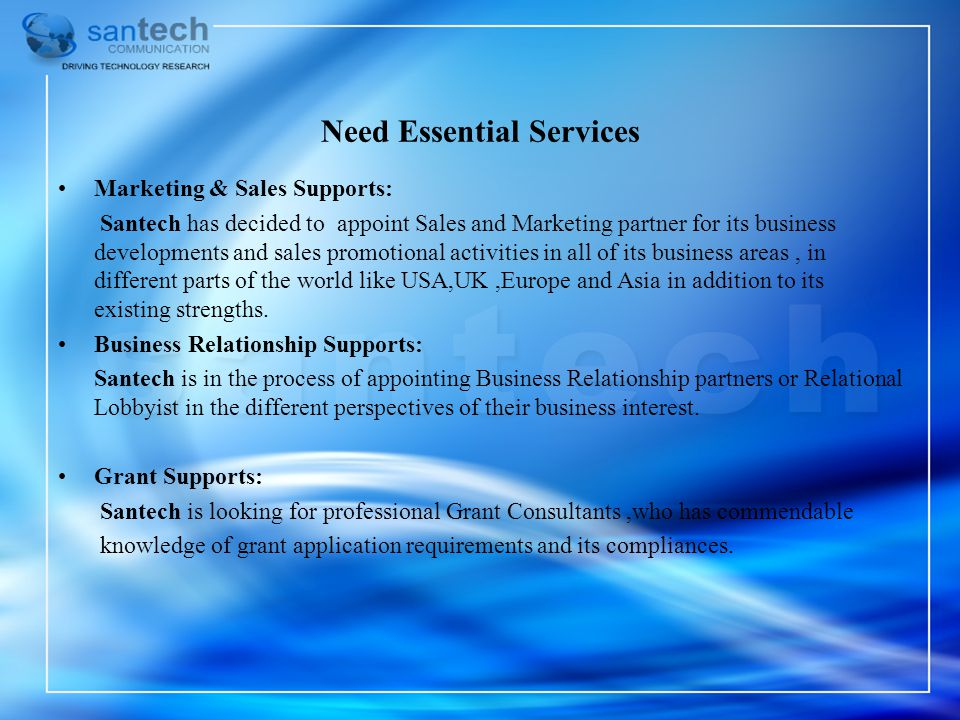Need Essential Services