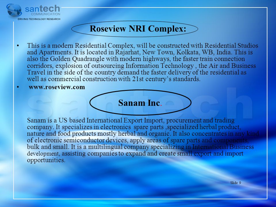 Roseview NRI Complex: Sanam Inc.