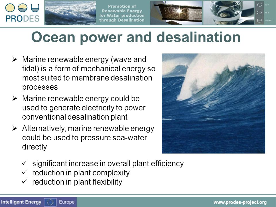 Ocean power and desalination