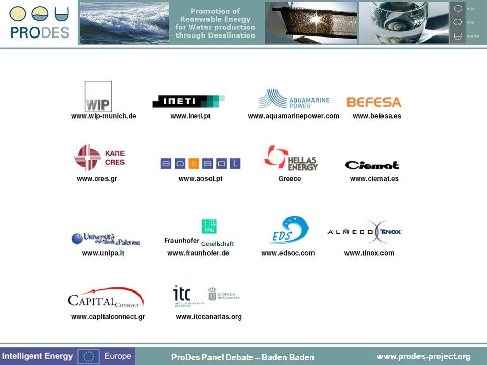 Partner's logos ProDes Panel Debate – Baden Baden