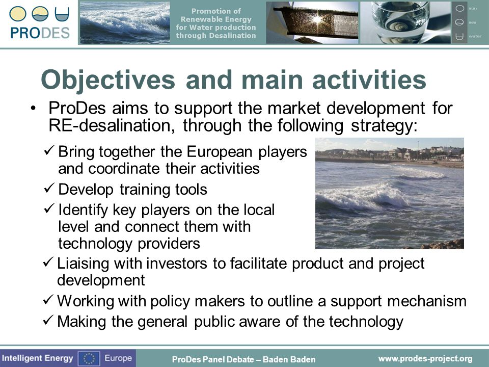 Objectives and main activities
