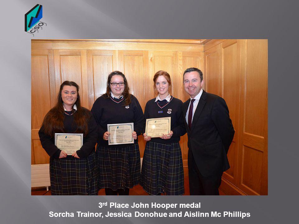 3rd Place John Hooper medal