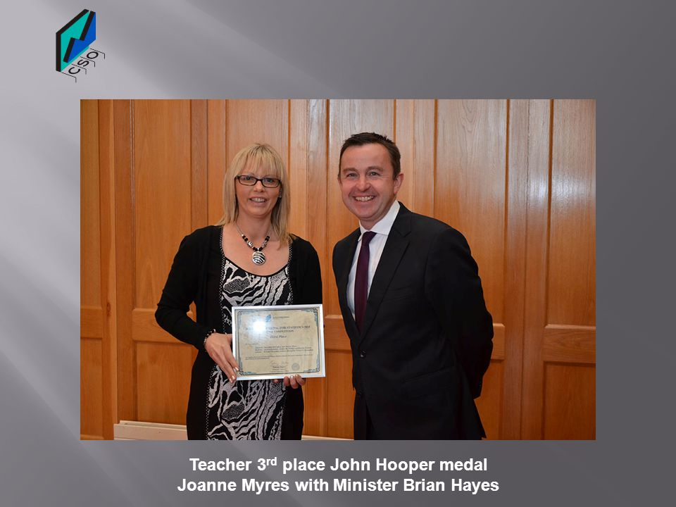 Teacher 3rd place John Hooper medal