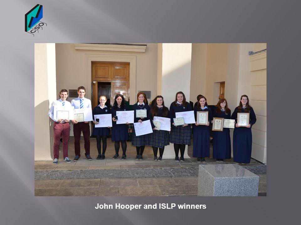John Hooper and ISLP winners