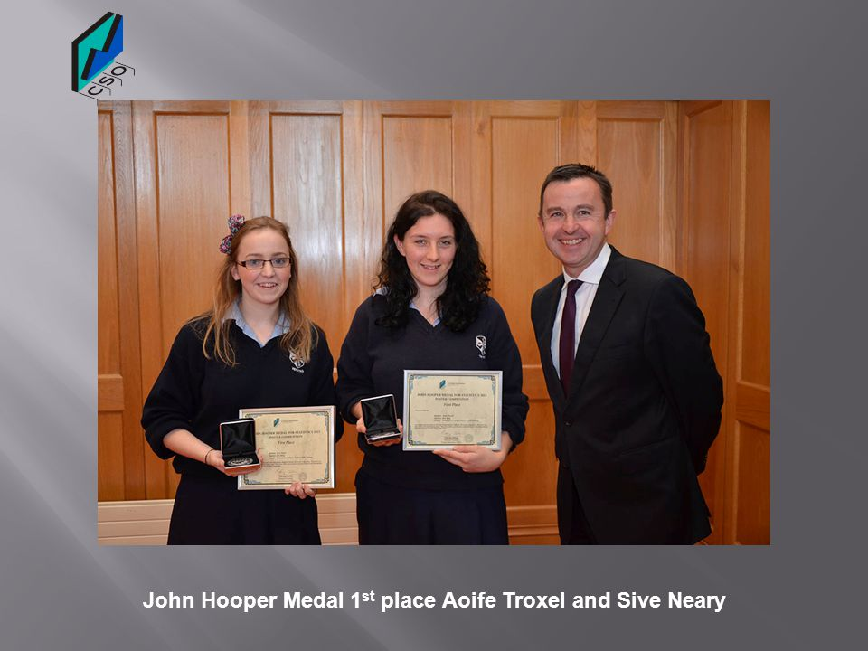 John Hooper Medal 1st place Aoife Troxel and Sive Neary
