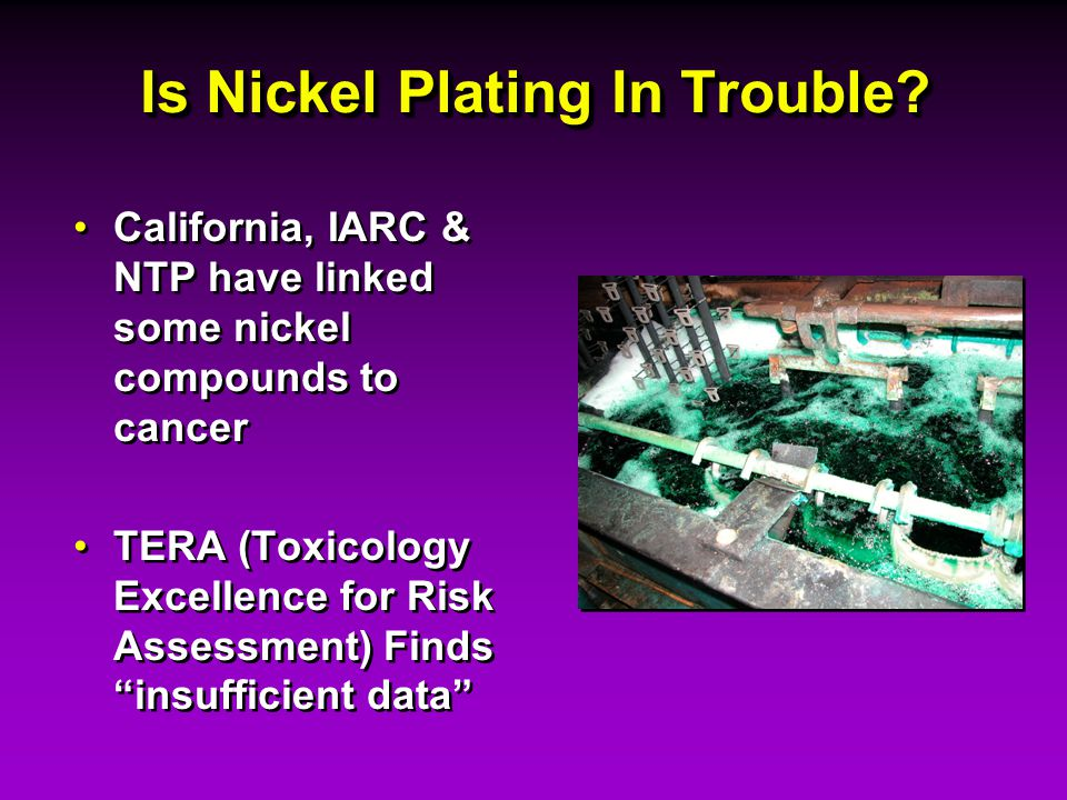 Is Nickel Plating In Trouble