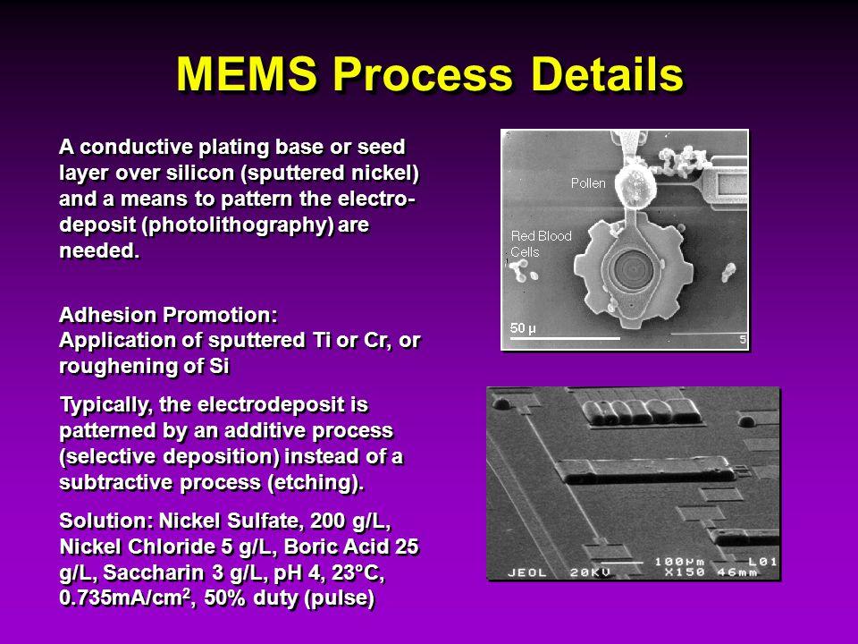 MEMS Process Details