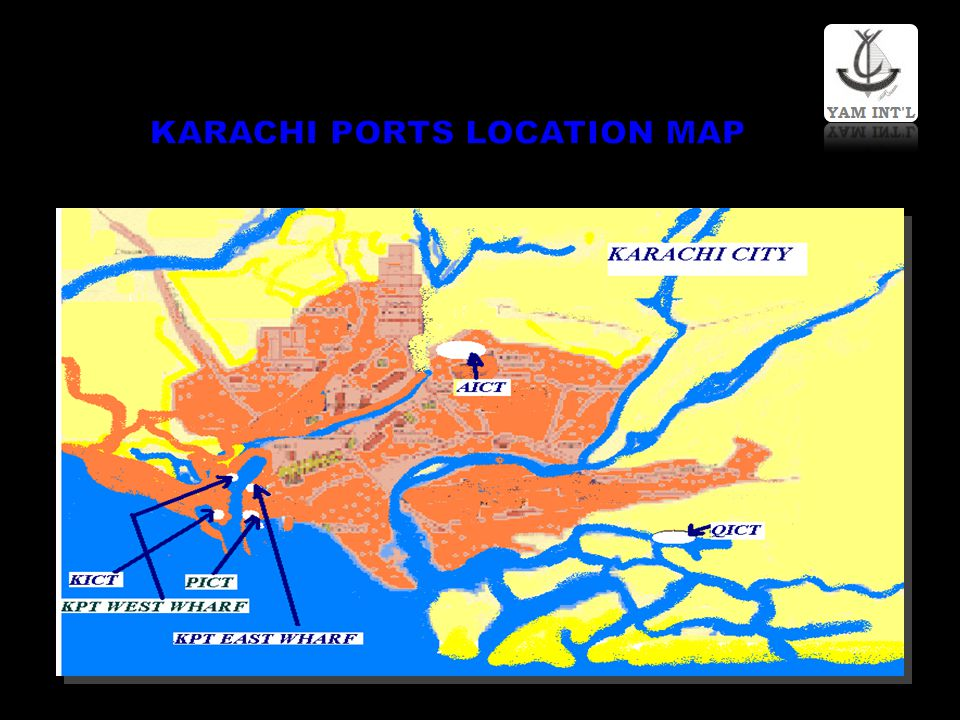 KARACHI PORTS LOCATION MAP