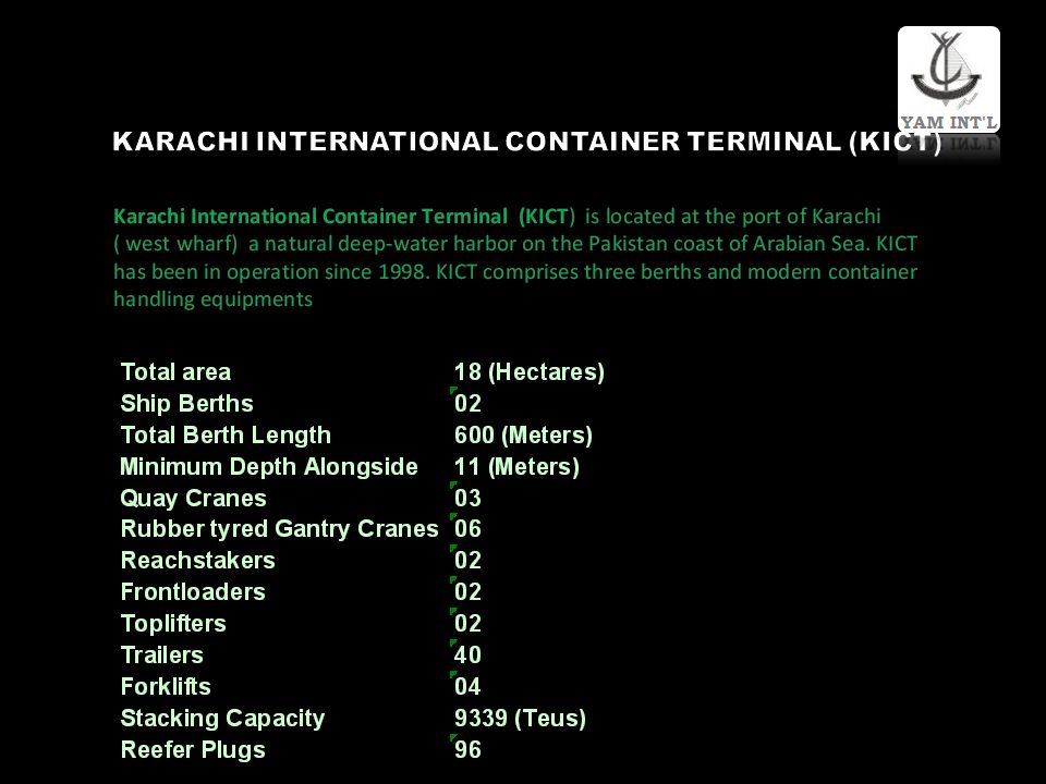 KARACHI INTERNATIONAL CONTAINER TERMINAL (KICT)
