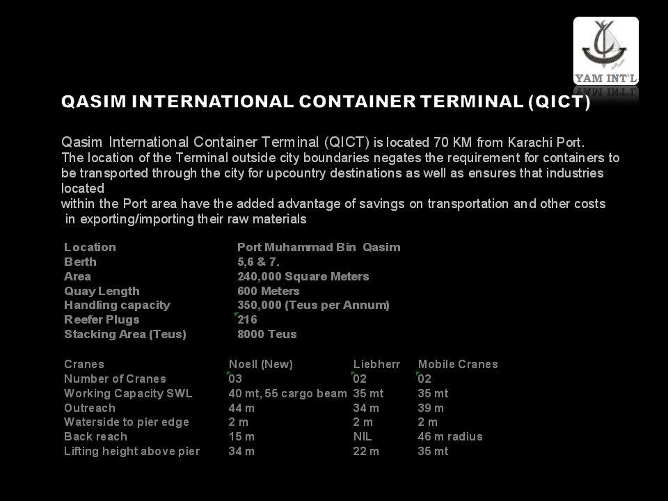 QASIM INTERNATIONAL CONTAINER TERMINAL (QICT)