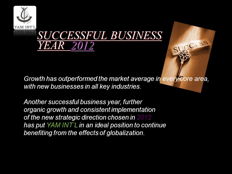 SUCCESSFUL BUSINESS YEAR 2012