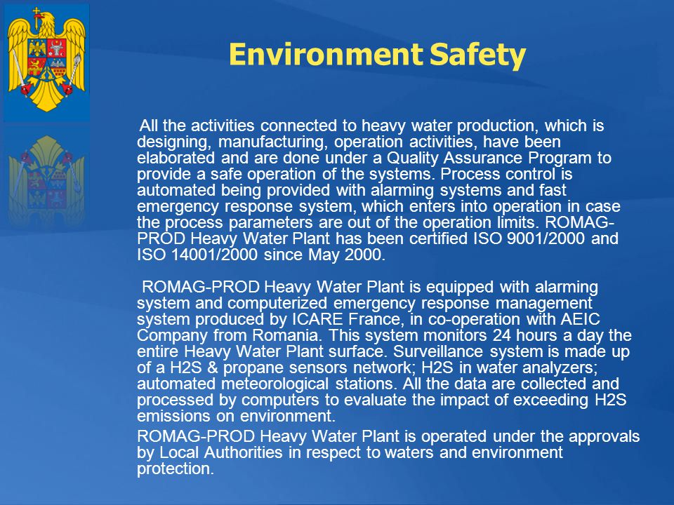 Environment Safety