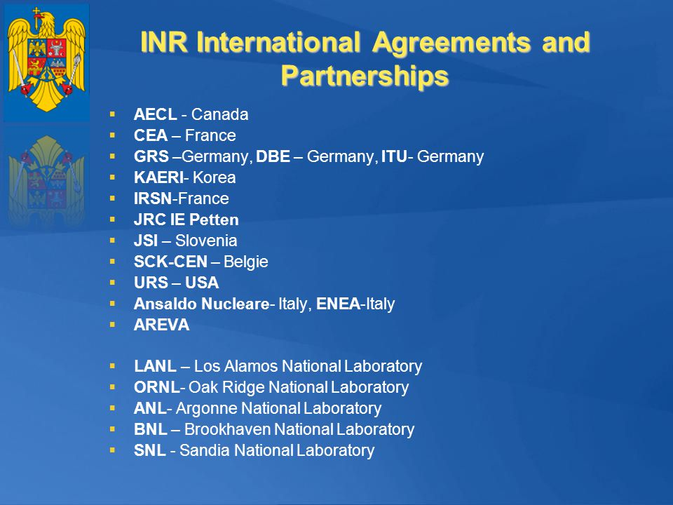 INR International Agreements and Partnerships