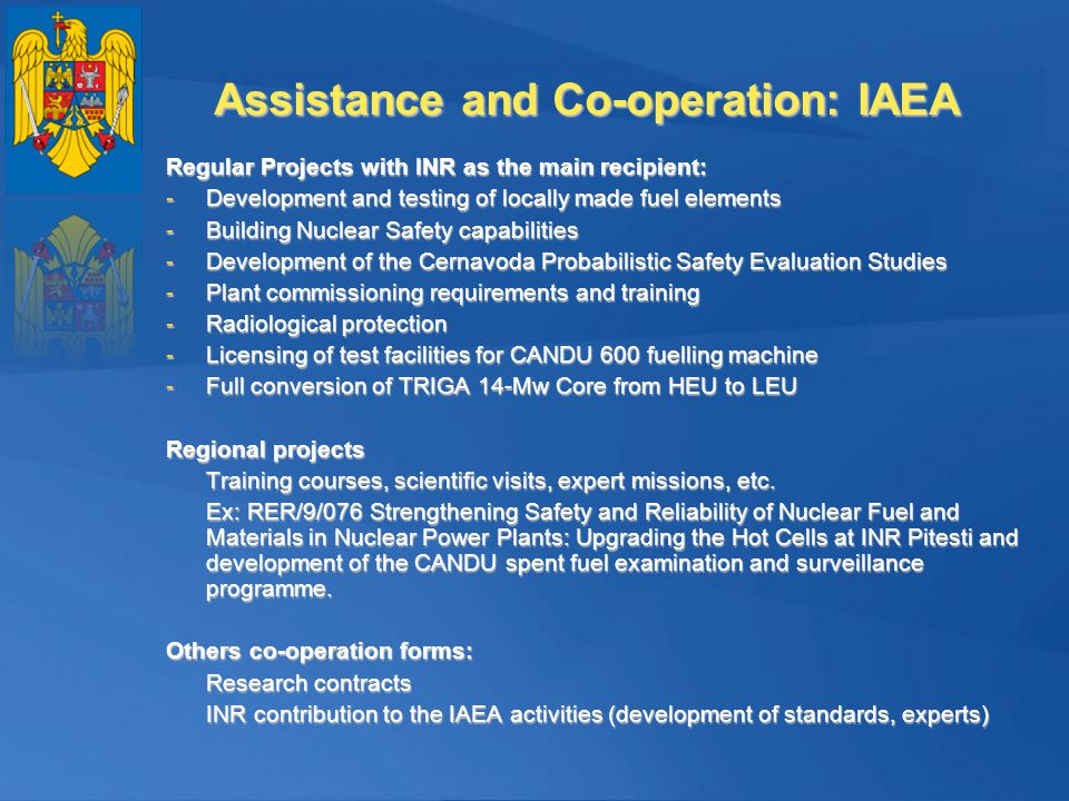 Assistance and Co-operation: IAEA