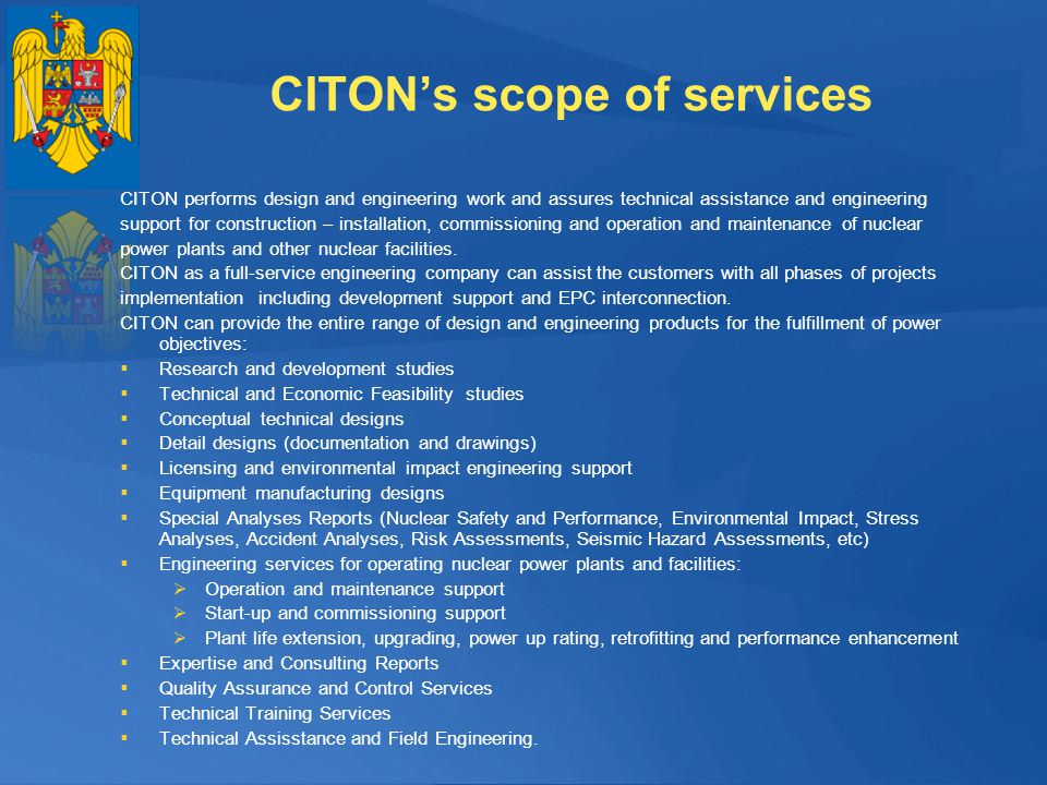 CITON's scope of services