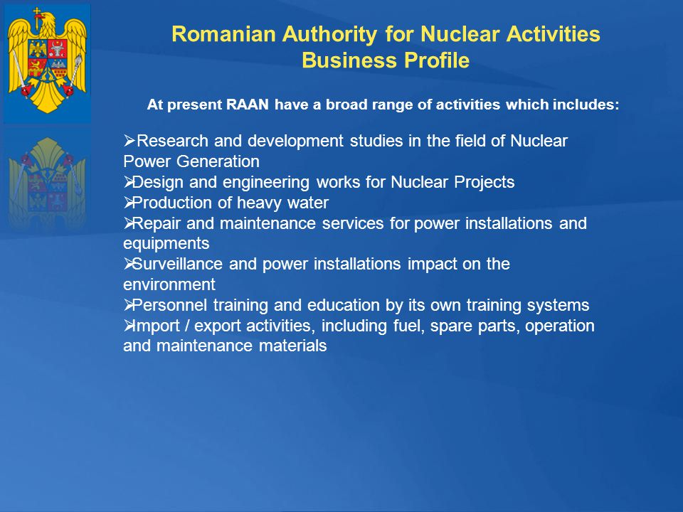 Romanian Authority for Nuclear Activities Business Profile