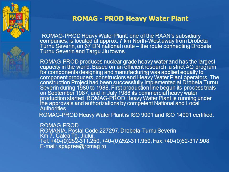 ROMAG - PROD Heavy Water Plant