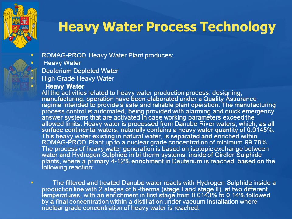 Heavy Water Process Technology