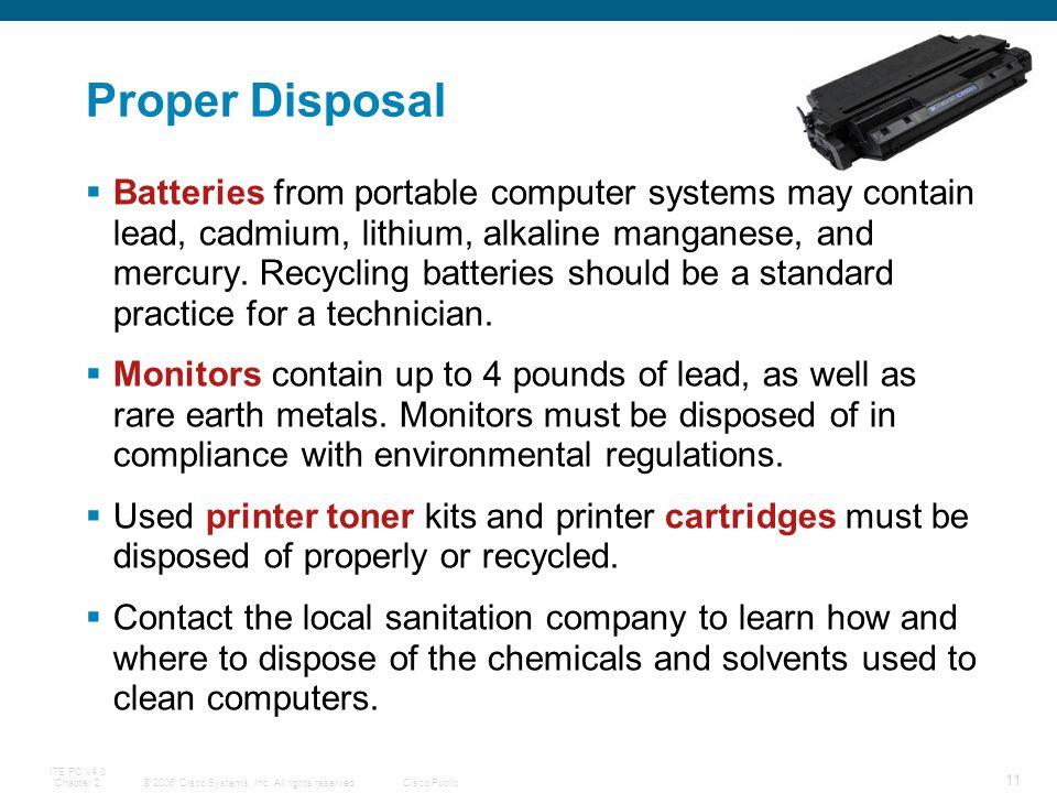 Proper Disposal