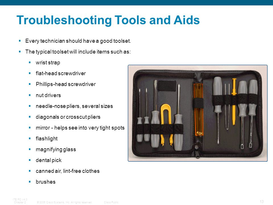 Troubleshooting Tools and Aids