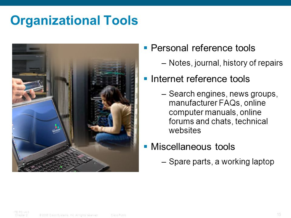 Organizational Tools Personal reference tools Internet reference tools