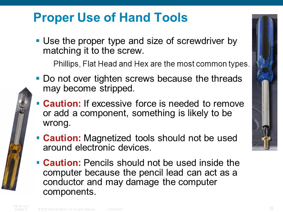 Proper Use of Hand Tools