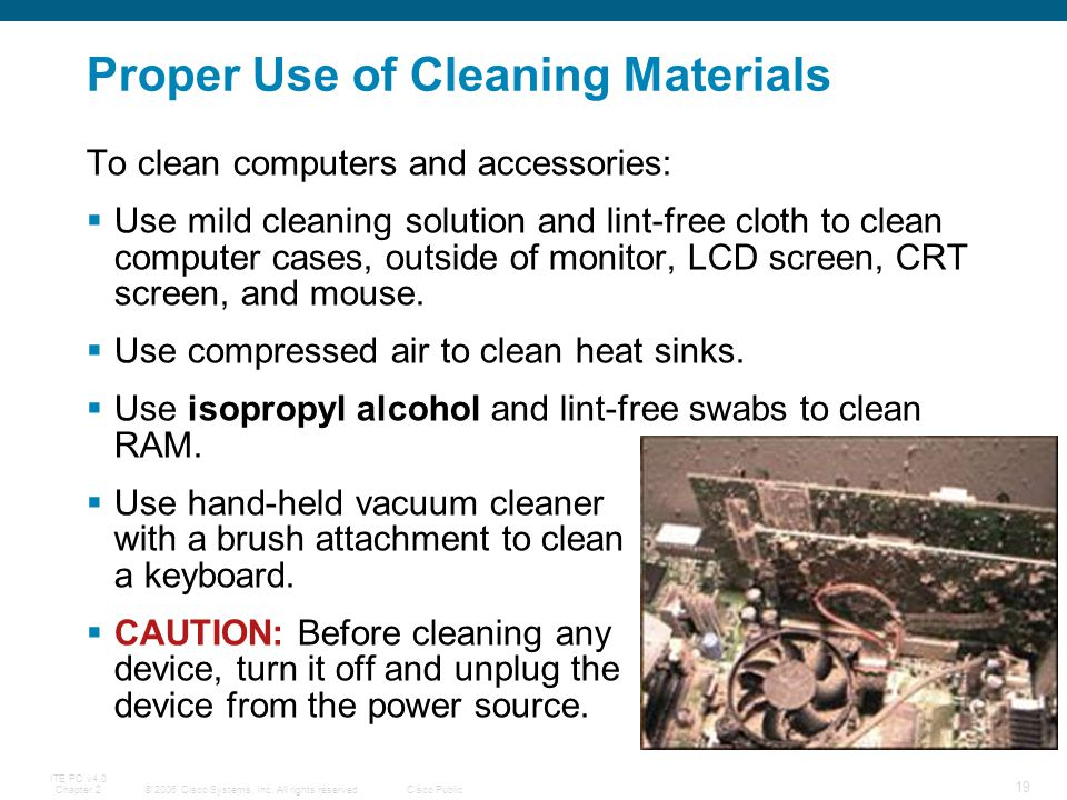 Proper Use of Cleaning Materials