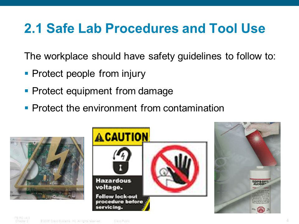 2.1 Safe Lab Procedures and Tool Use
