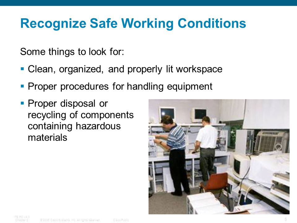 Recognize Safe Working Conditions
