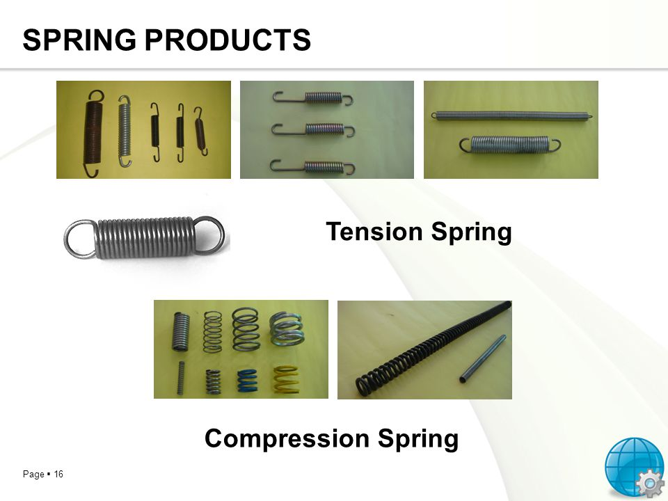 SPRING PRODUCTS Tension Spring Compression Spring