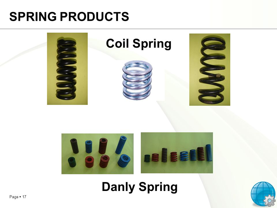 SPRING PRODUCTS Coil Spring Danly Spring
