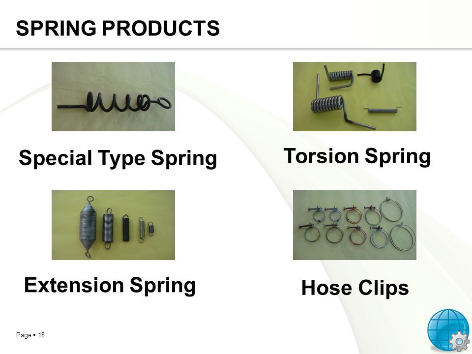 SPRING PRODUCTS Special Type Spring Torsion Spring Extension Spring Hose Clips