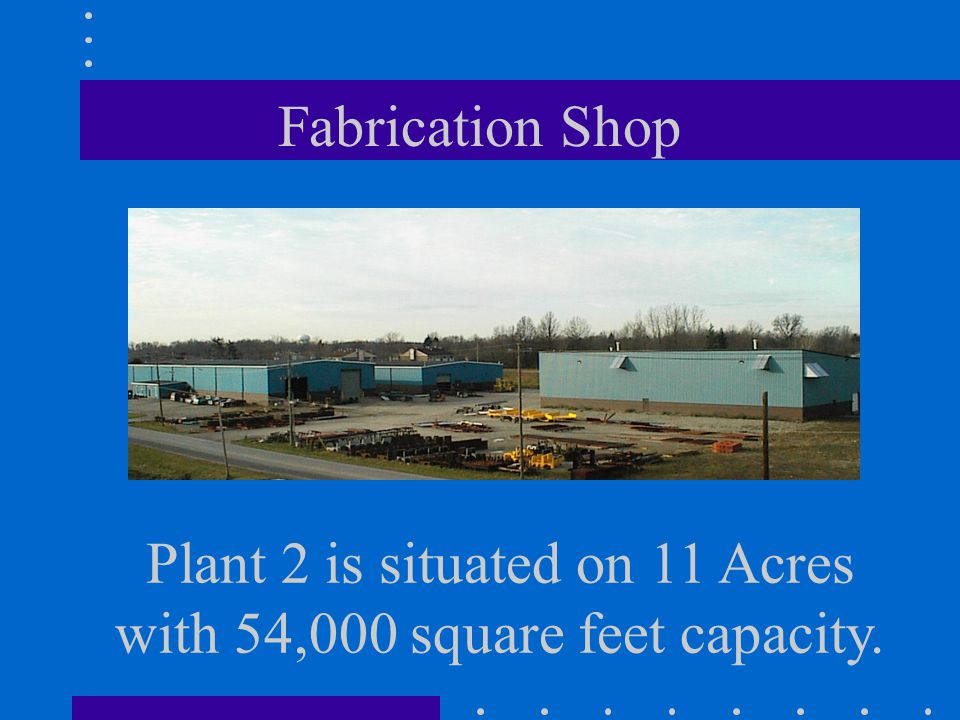Plant 2 is situated on 11 Acres with 54,000 square feet capacity.