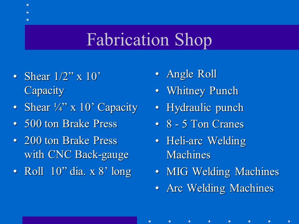 Fabrication Shop Angle Roll Shear 1/2 x 10' Capacity Whitney Punch