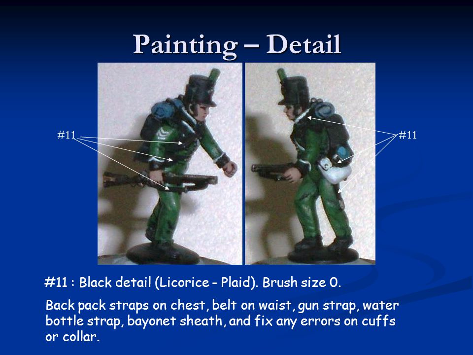 Painting – Detail #11 : Black detail (Licorice - Plaid). Brush size 0.