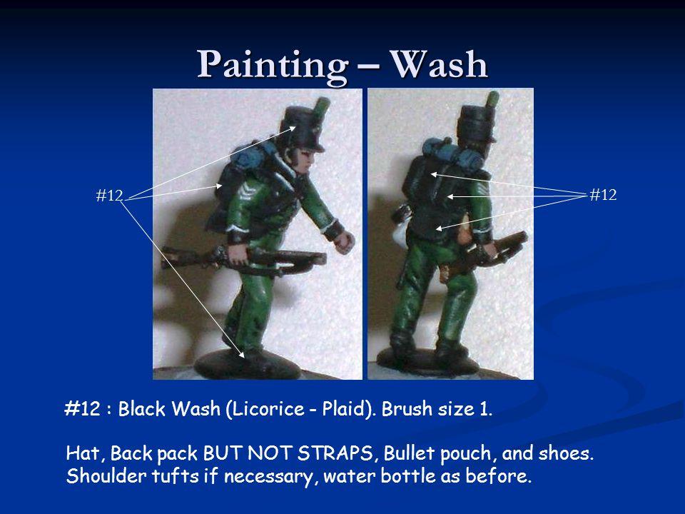 Painting – Wash #12 : Black Wash (Licorice - Plaid). Brush size 1.