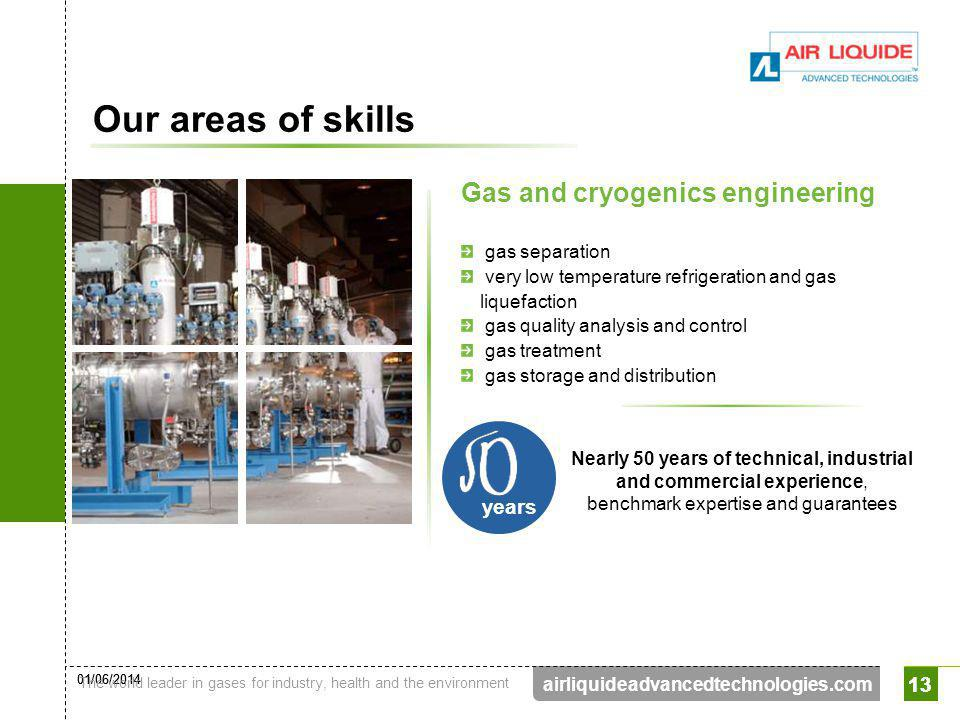 Our areas of skills Gas and cryogenics engineering years 13