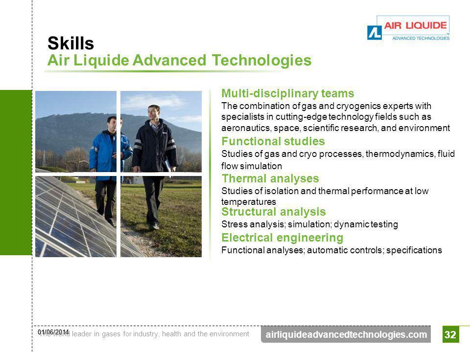 Skills Air Liquide Advanced Technologies Multi-disciplinary teams