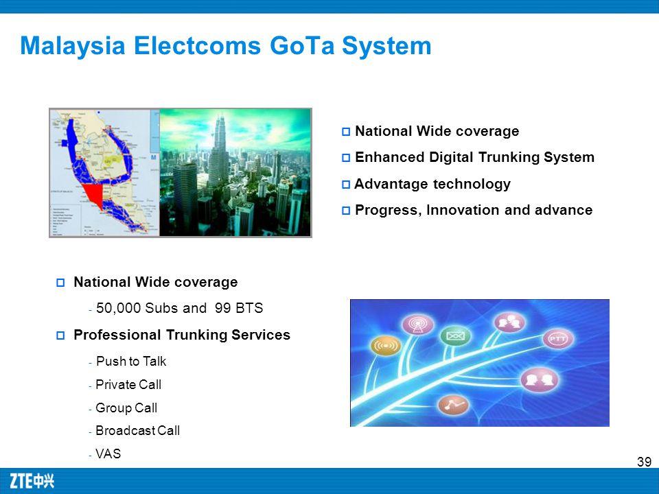 Malaysia Electcoms GoTa System